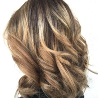 Balayage Highlights Copper Sunkist