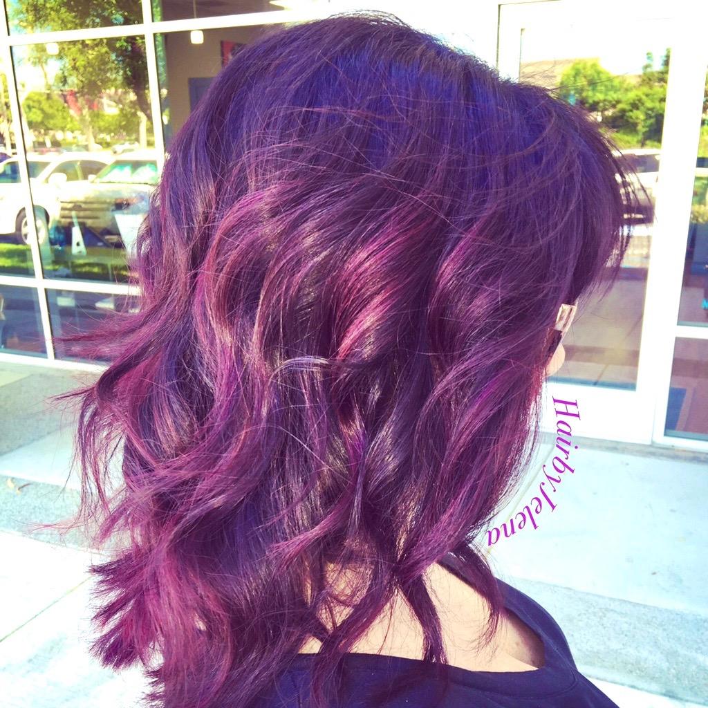 Vivid Hair Color By Jelena Salon Heavener Orange County Laguna